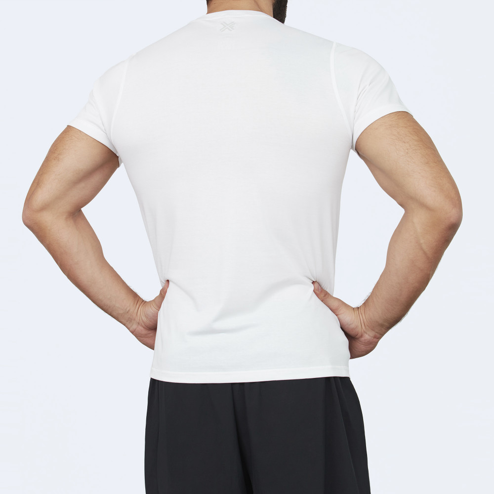 CrossFit t-shirt for men from recycled materials XFeat Original's white back
