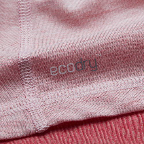 CrossFit t-shirt for women from recycled materials XFeat ecodry label white & grey