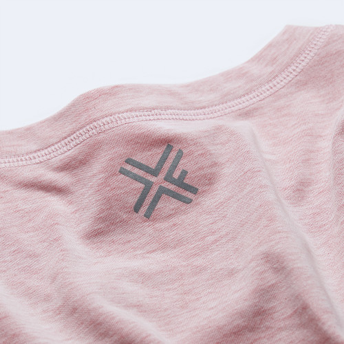 CrossFit t-shirt for women from recycled materials XFeat reflective logo grey