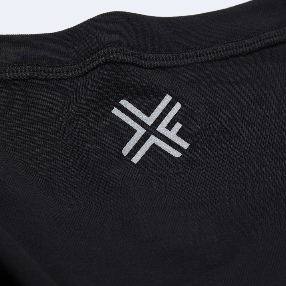 CrossFit t-shirt for men from recycled materials XFeat reflective logo grey