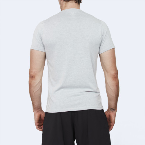 CrossFit t-shirt for men from recycled materials XFeat Strongman grey back