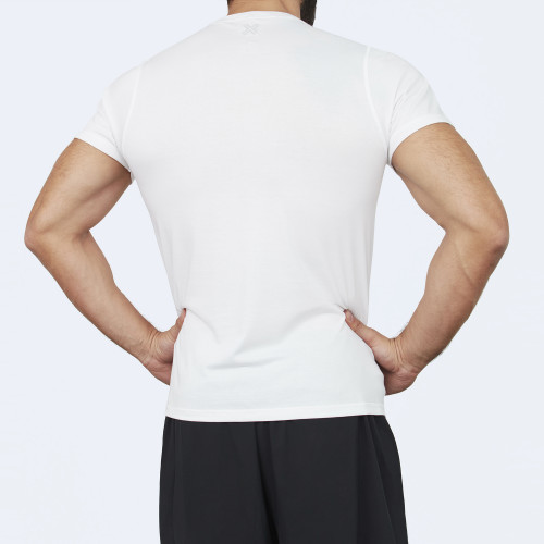 CrossFit t-shirt for men from recycled materials XFeat Running Is For The Brave white back